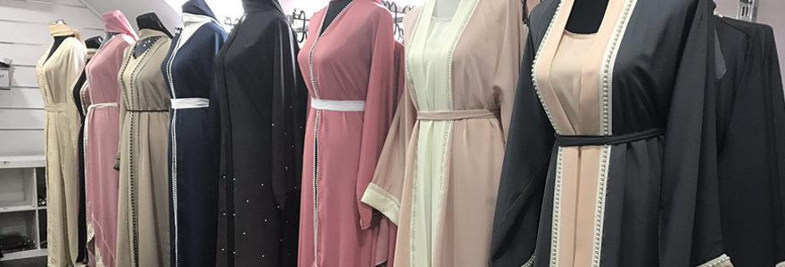 robes longues portées par la femme voilée